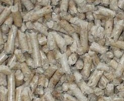 Foto: Holzpellets, ca. 6 x 20-30 mm